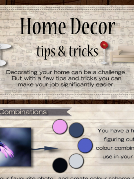 Home Décor Tips & Tricks Infographic