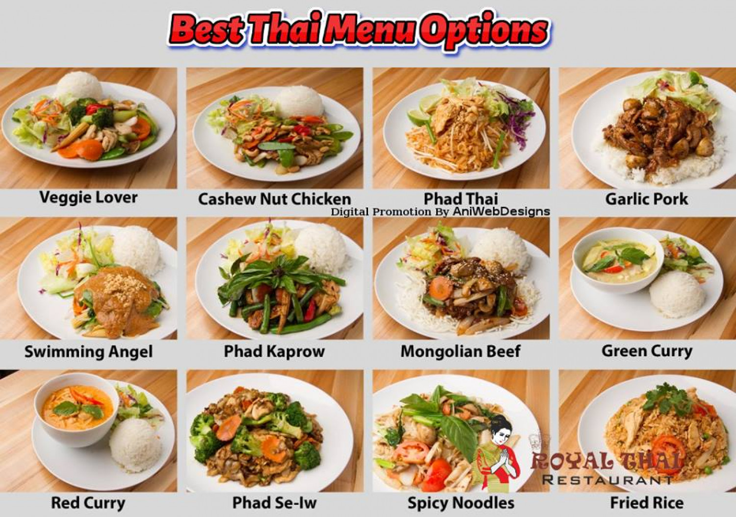 Home Delivery and Catering Services of Thai Restaurant Infographic