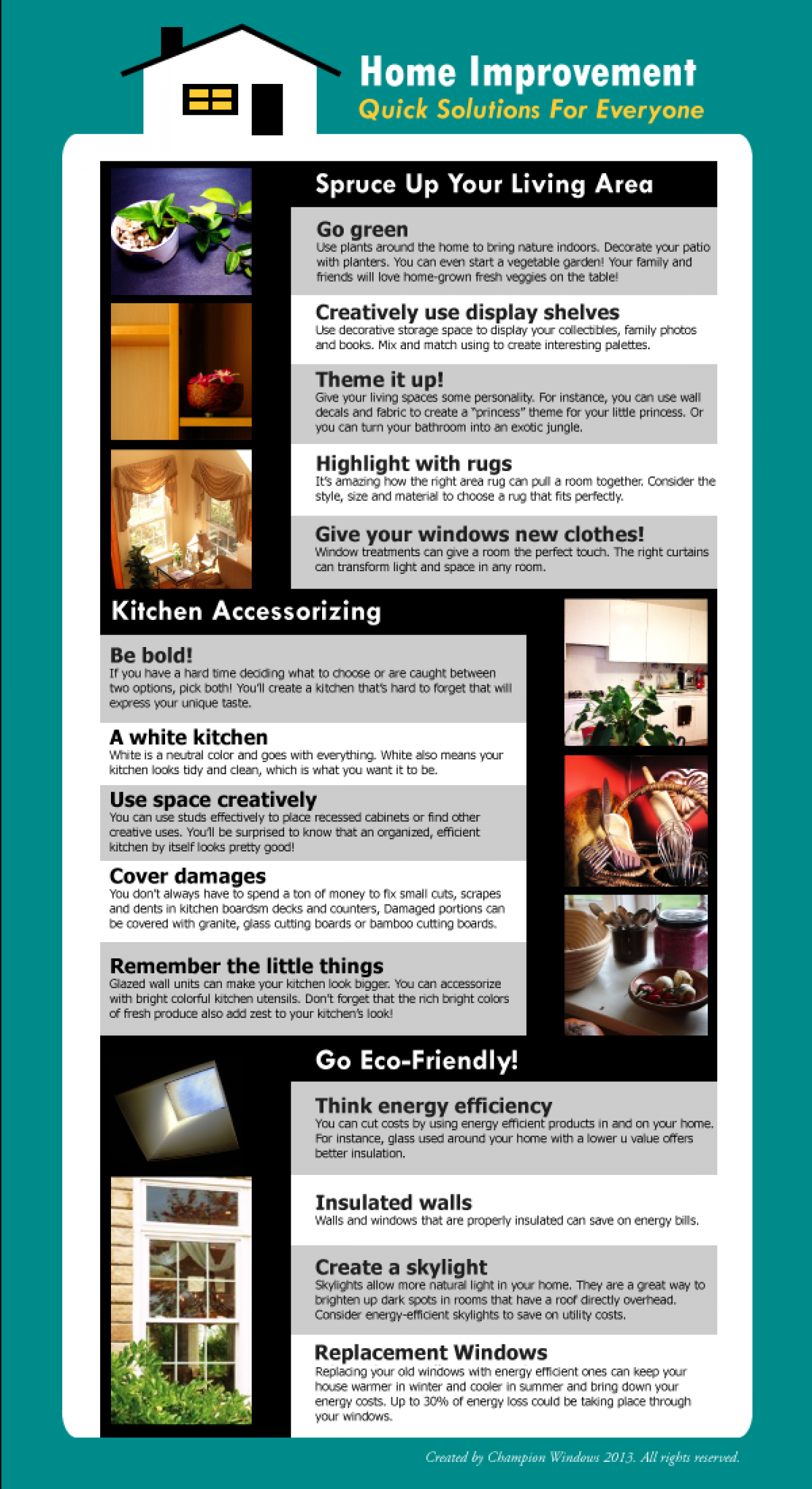 Home Improvement Infographics - Quick Solutions for Everyone! Infographic