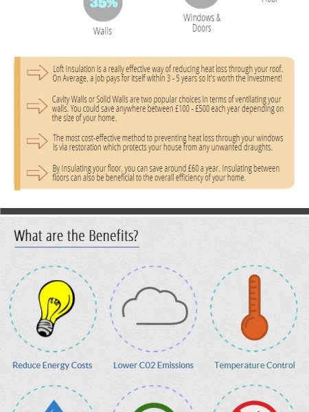 Home Insulation: How to make your House more Energy Efficient Infographic