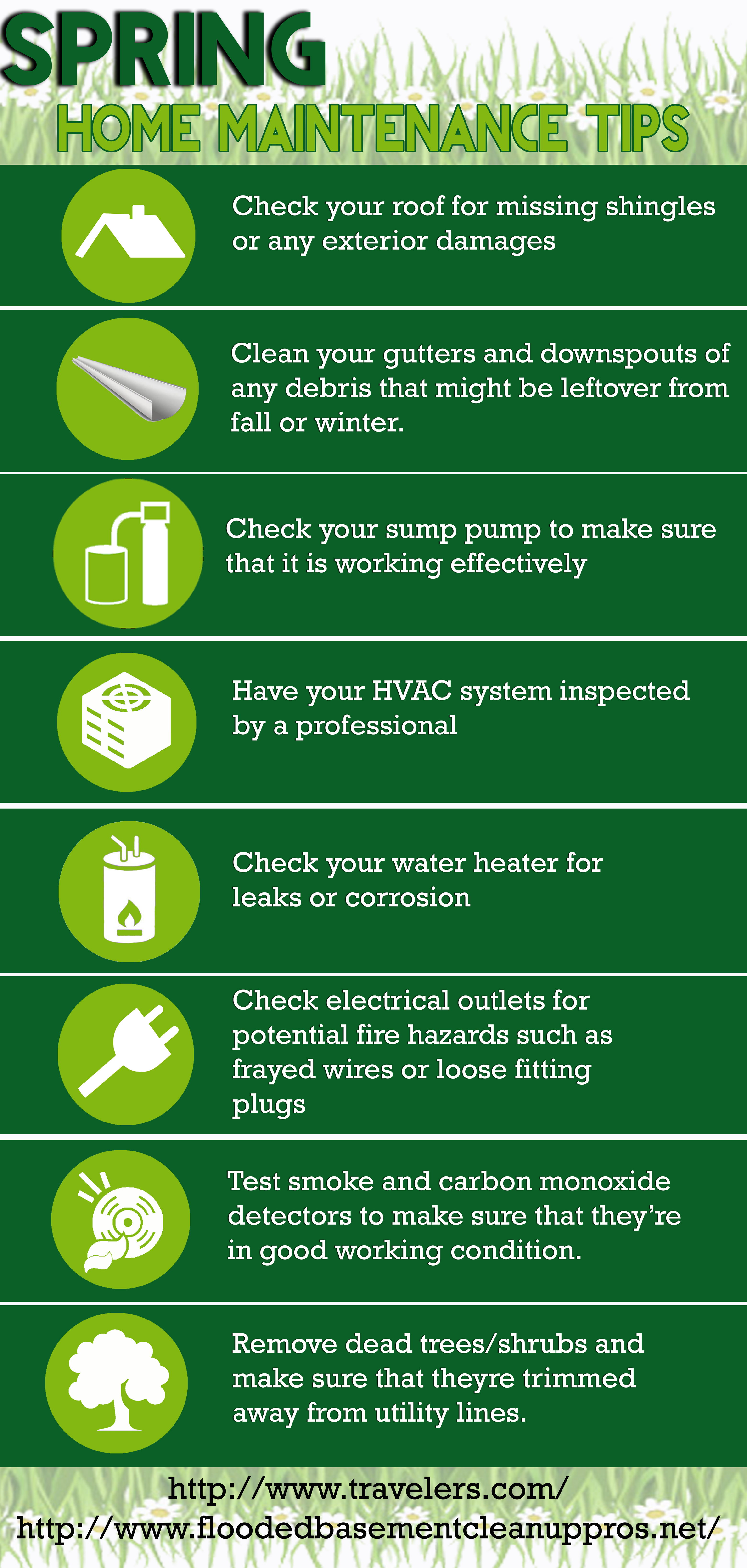 home maintenance tips for spring | visual.ly
