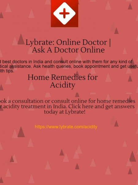 Home Remedies for Acidity | Lybrate Infographic