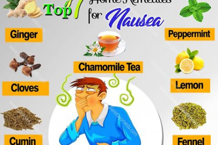 Home Remedies for Nausea - Top 7 Home Remedies Infographic