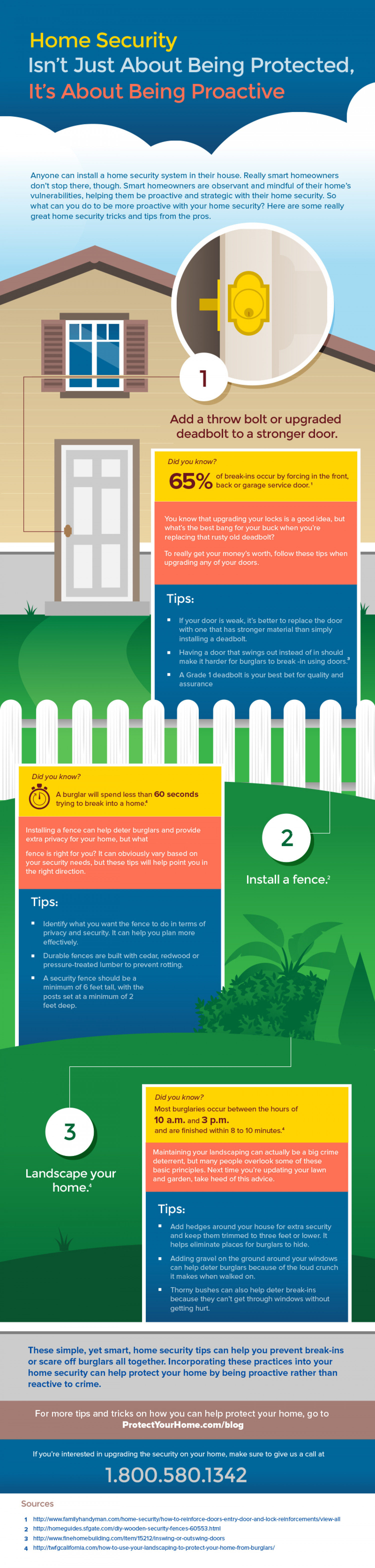 Home Security Isn't Just About Being Protected, It's About Being Proactive Infographic
