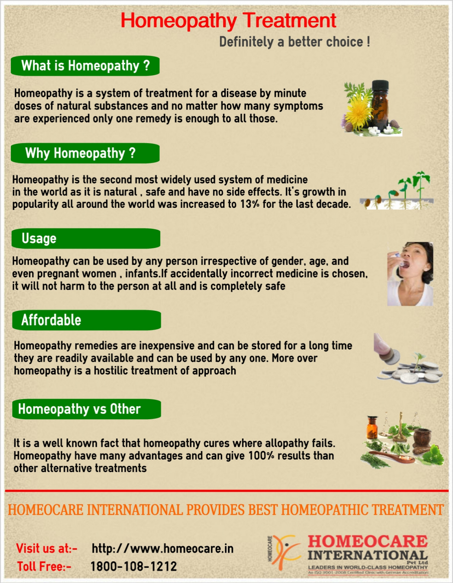 Homeopathy Treatment Infographic
