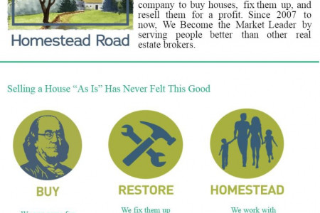 Homestead Road: Sell your Home Fast for a Cash House Buyers Infographic
