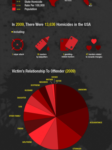 Homicide in America Infographic