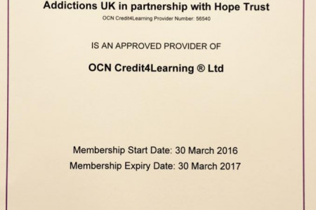 Hope Trust Partnership with Addictions UK Infographic