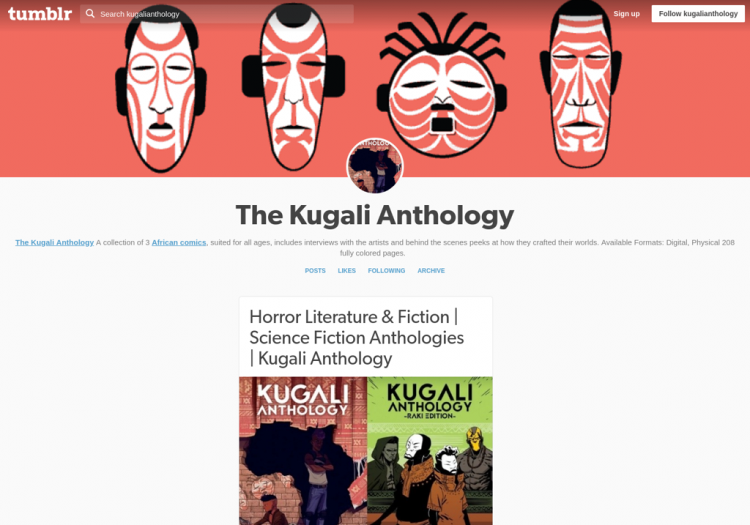 Horror Literature & Fiction | Science Fiction Anthologies | Kugali Anthology Infographic