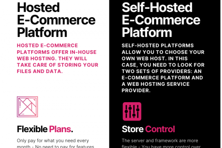 Hosted or Self-Hosted E-Commerce Platform: Which One is Better? Infographic