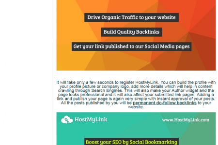 Hostmylink – Social Bookmarking Site for SEO Infographic