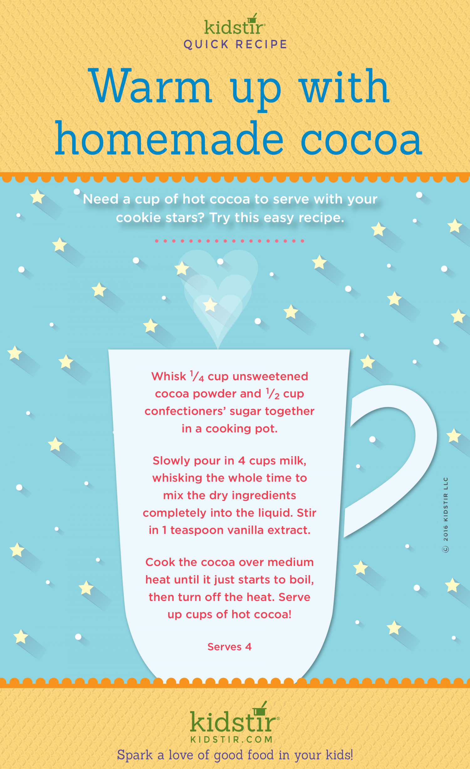 Hot Cocoa Recipe for Kids Infographic