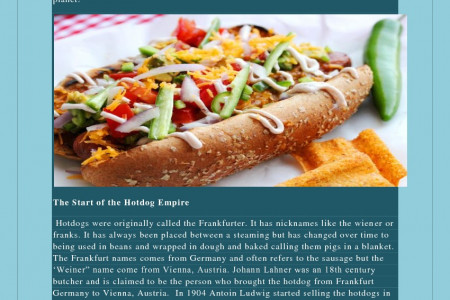 Hot Dogs in the Making Infographic