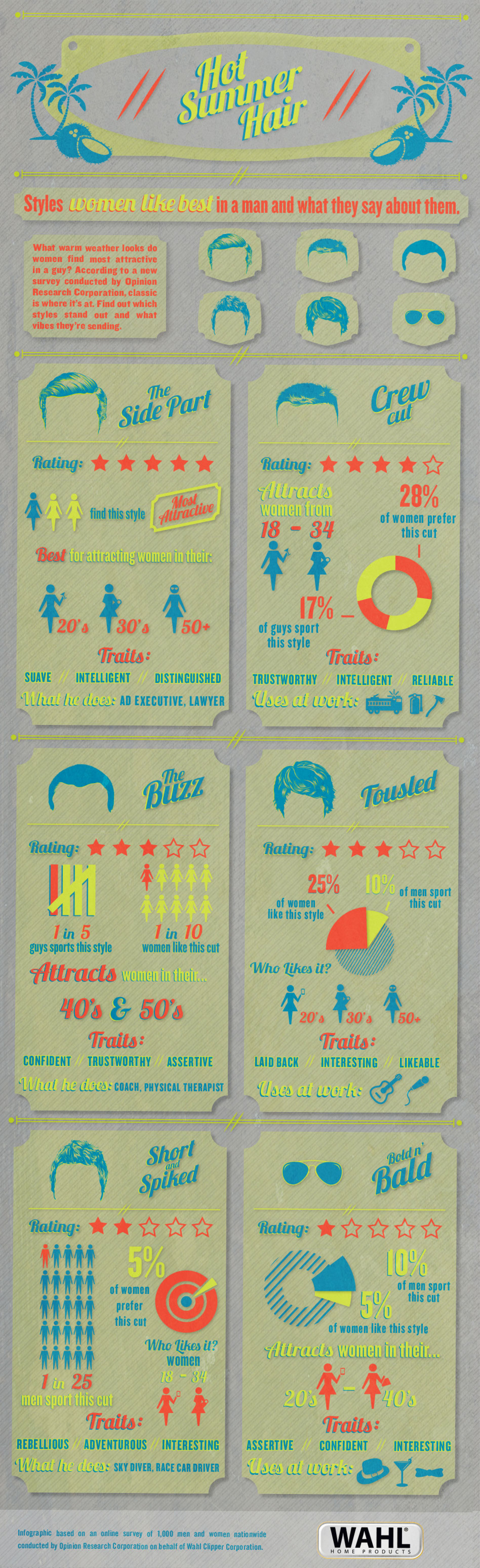 Hot Summer Hair Infographic