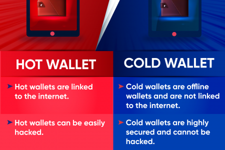 Hot Wallet VS Cold Wallet Infographic