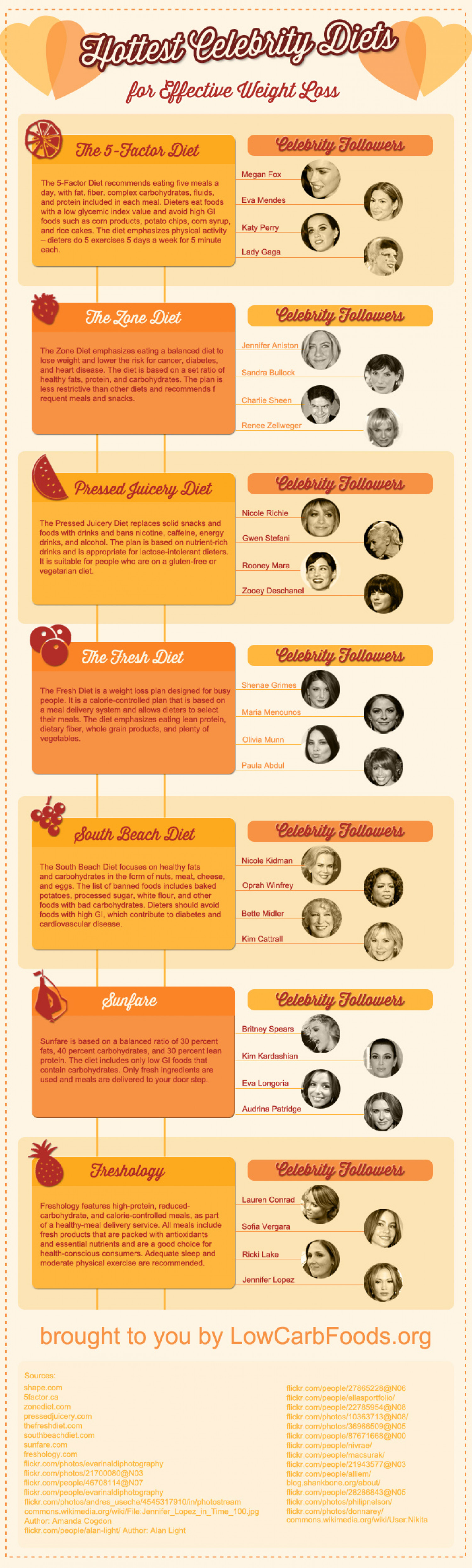 Hottest Celebrity Diets  Infographic