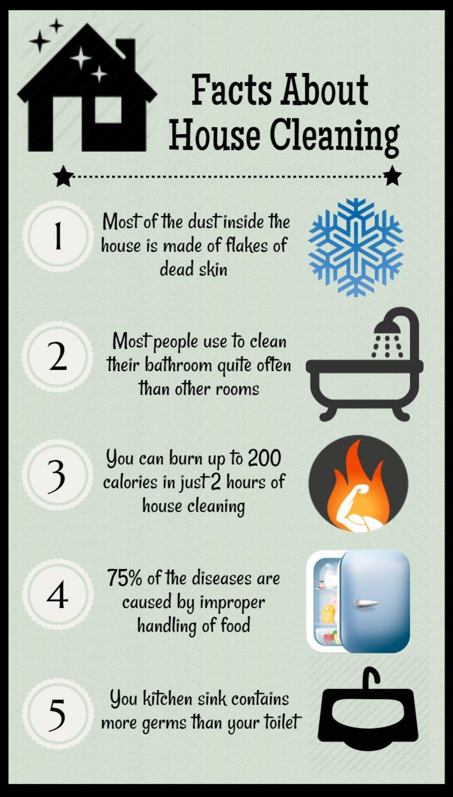House cleaning tips Infographic