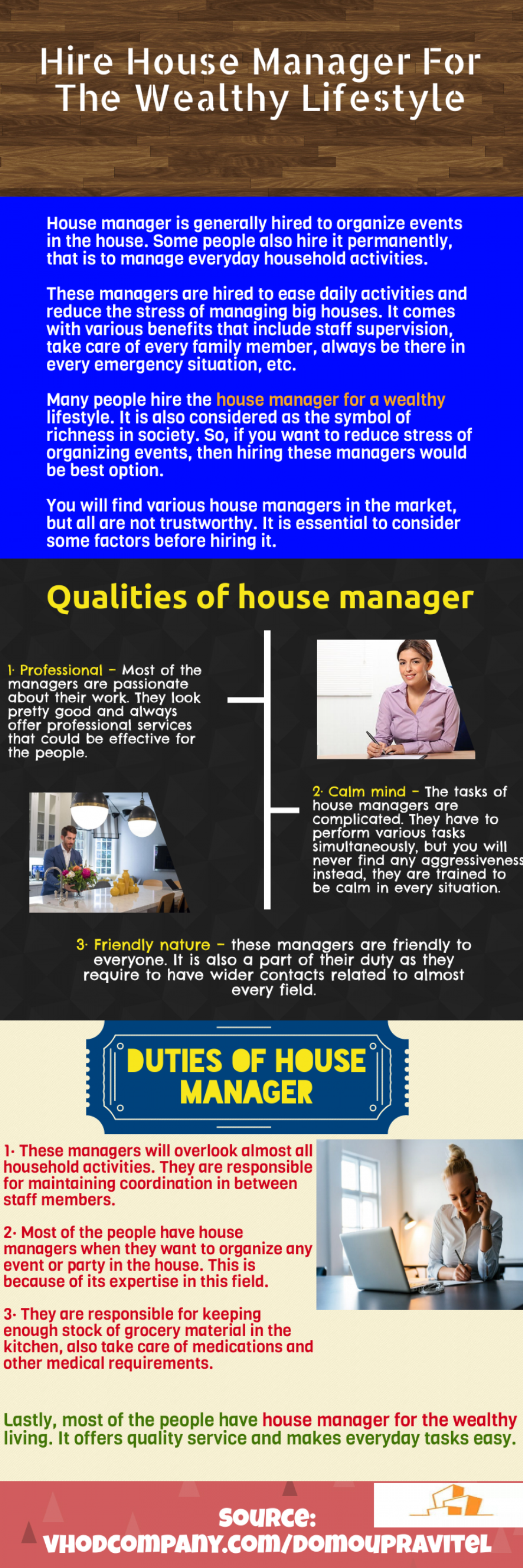 House Manager For The Wealthy Lifestyle Infographic