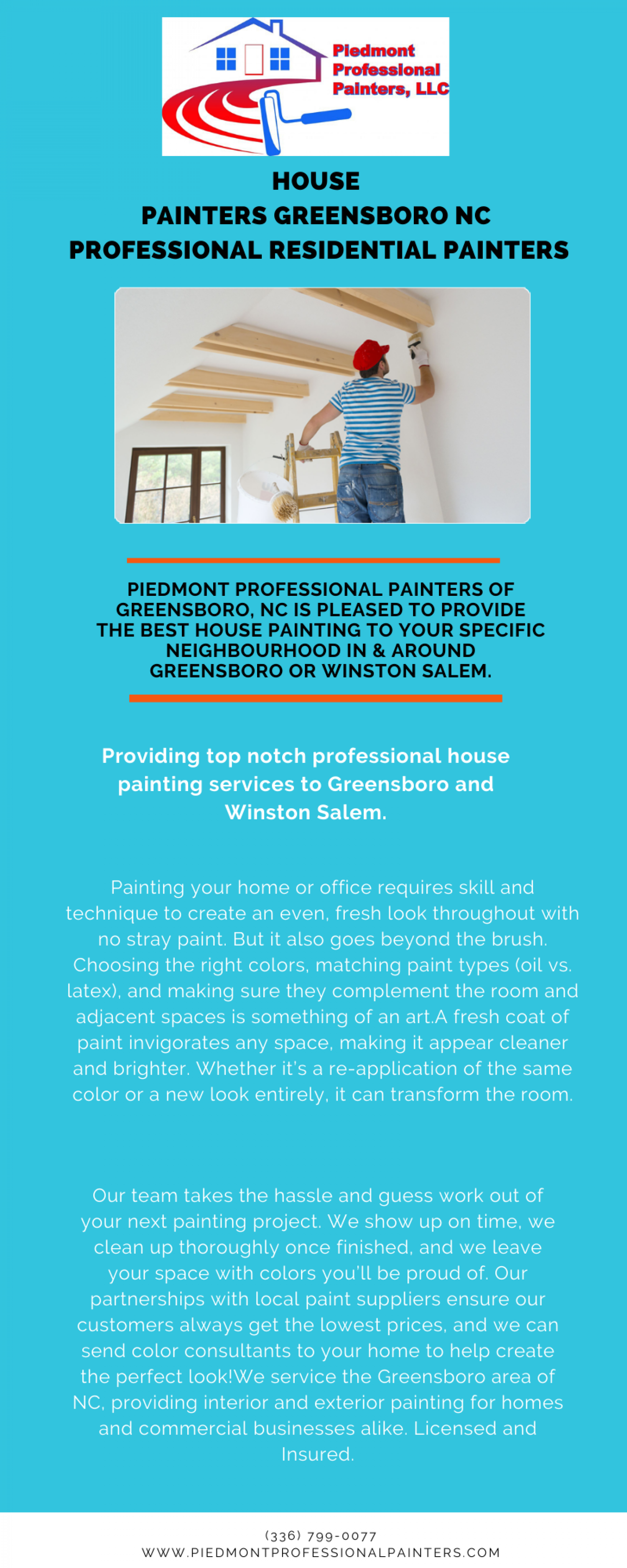 House Painters Greensboro NC | Professional Residential Painters Infographic