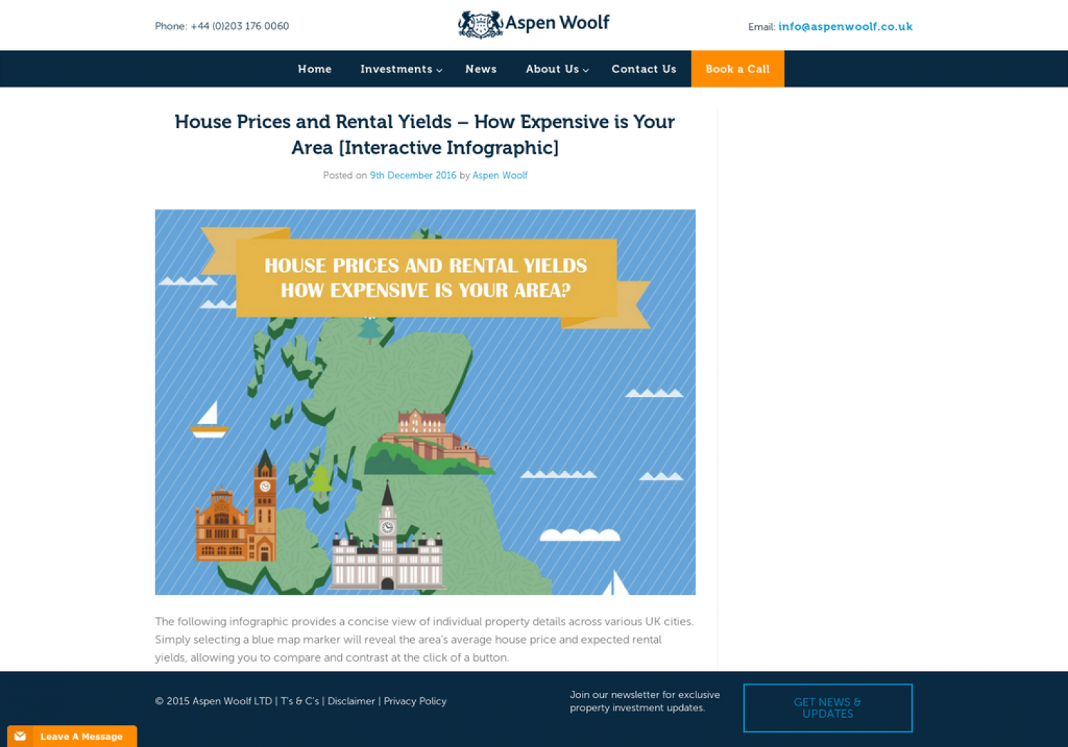 House Prices & Rental Yields - Interactive Map Infographic
