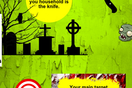 Household Weapons Against Zombies Infographic