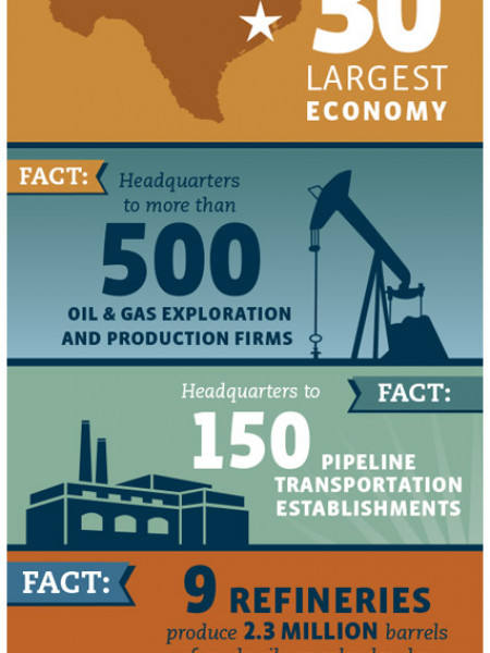 Houston, Texas: Energy Capital of the World Infographic