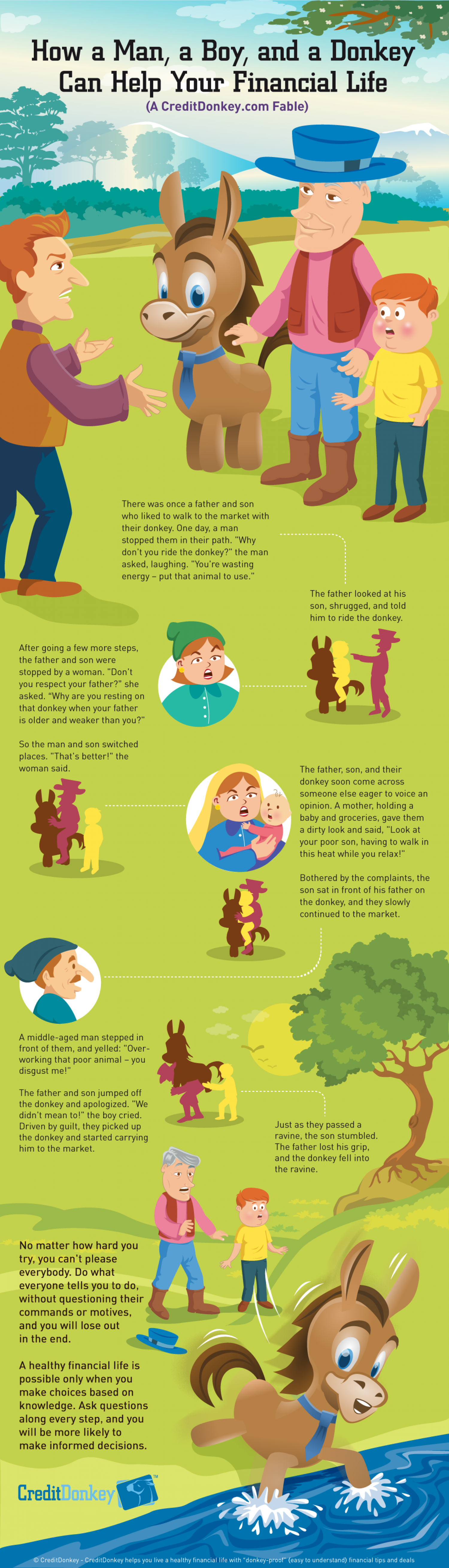 How a Man, a Boy, and a Donkey Can Help Your Financial Life Infographic