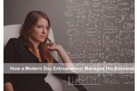 How a Modern Day Entrepreneur Manages his Business Infographic