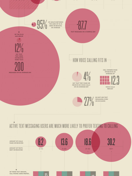 How Americans Use Text Messaging Infographic