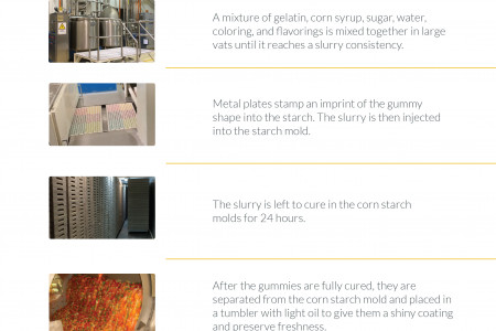 How Are Gummy Bears Made? Infographic