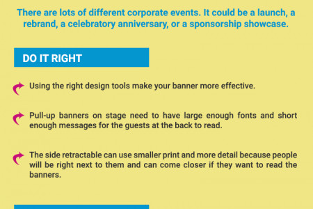 How banners can make your corporate event more professional Infographic