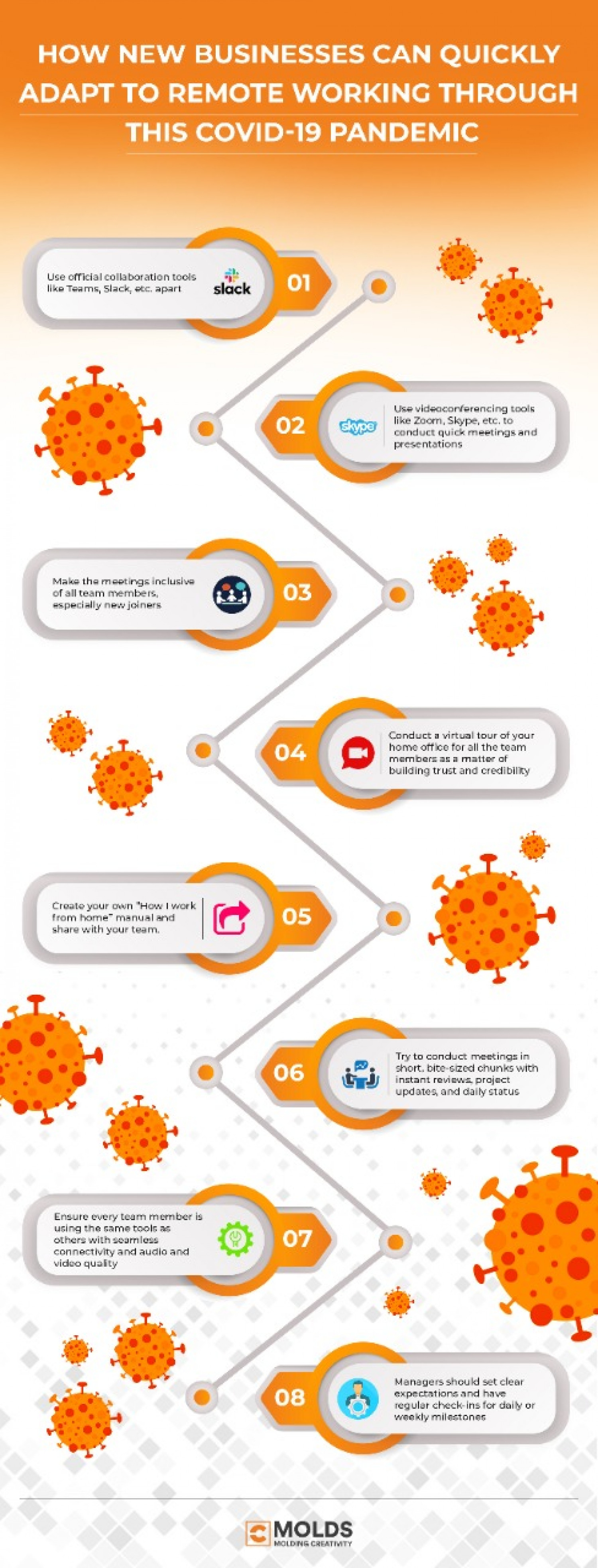 How New Business Can Quickly Adapt To Remote Working Through This COVID-19 Pandemic Infographic