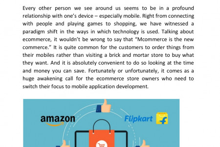 How Can Ecommerce Store Owners Create an App Like Amazon and Flipkart? Infographic