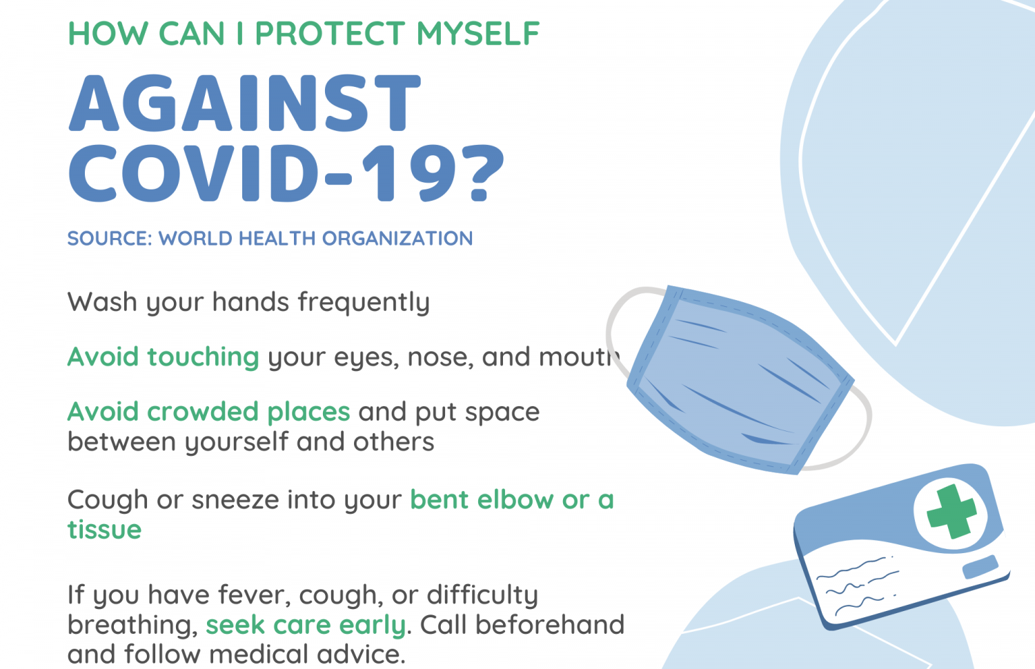 How can I protect myself against COVID - 19 Infographic