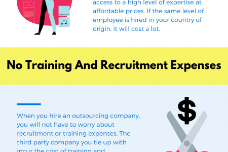 How can outsourcing lead to cost-savings? Infographic