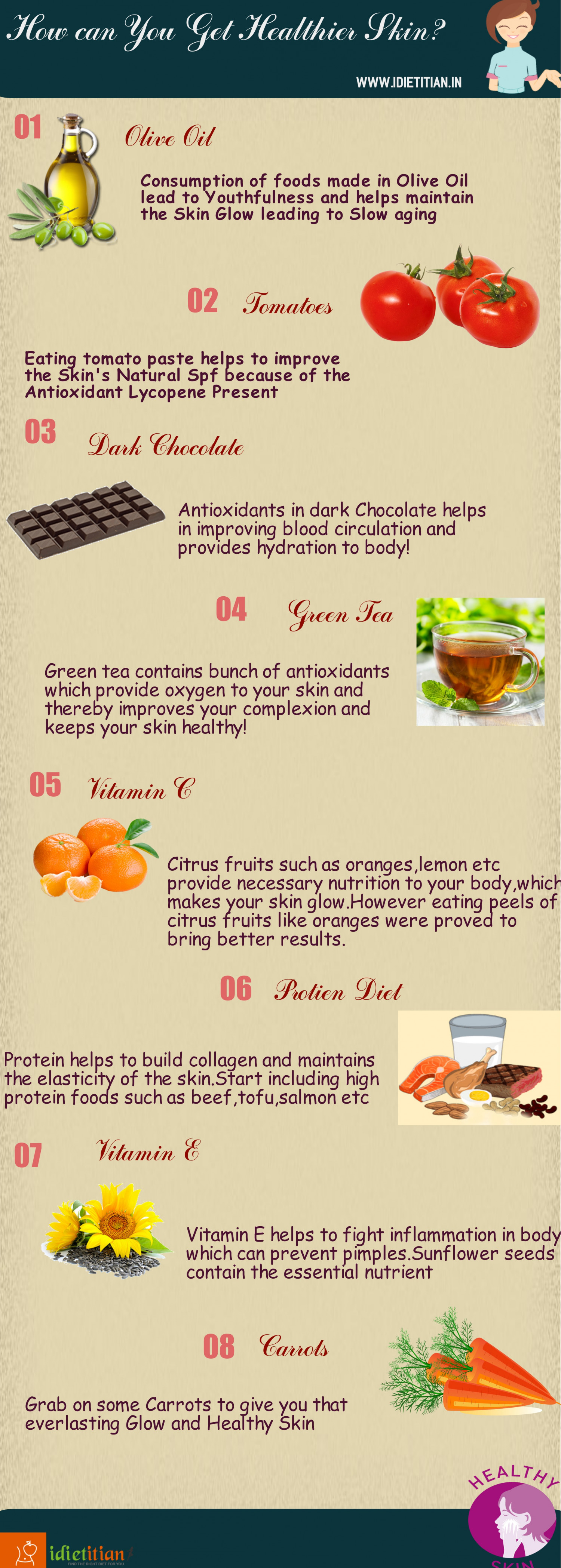 How Can You Get Healthier Skin? Infographic
