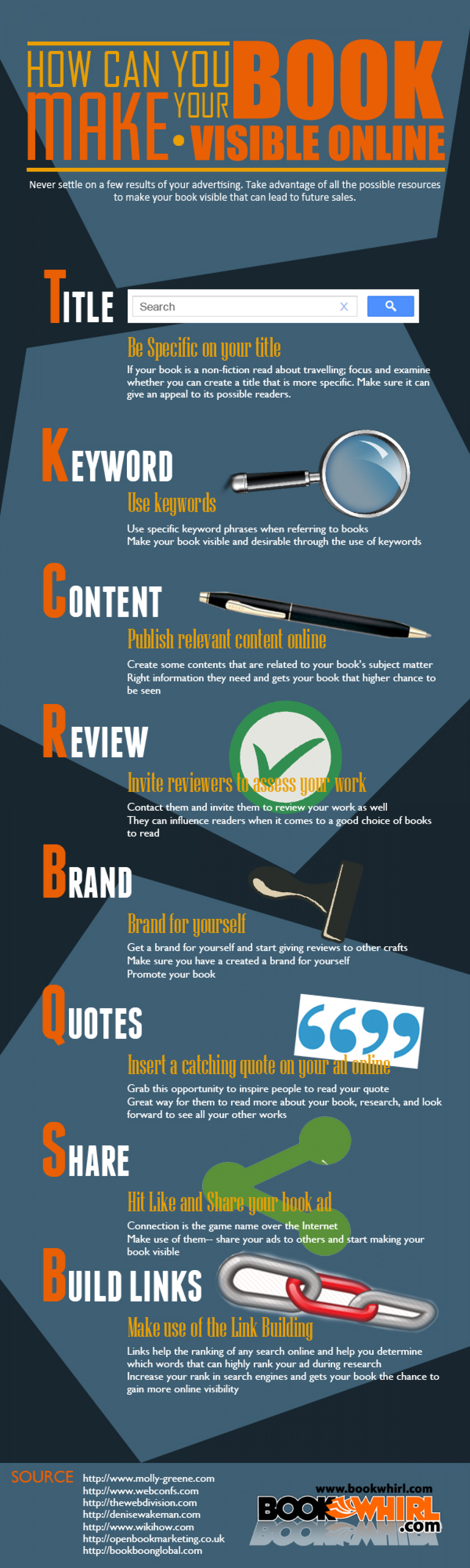 How Can You Make Your Book Visible Online Infographic