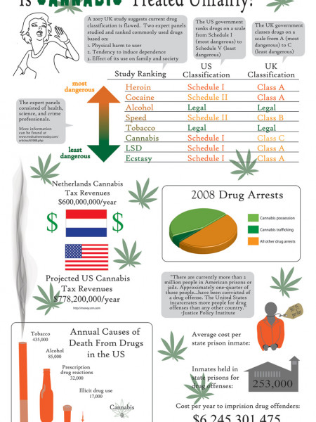 How Cannabis is Treated Unfairly  Infographic