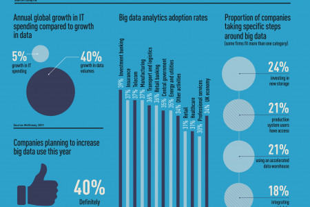 How companies use Big Data Infographic