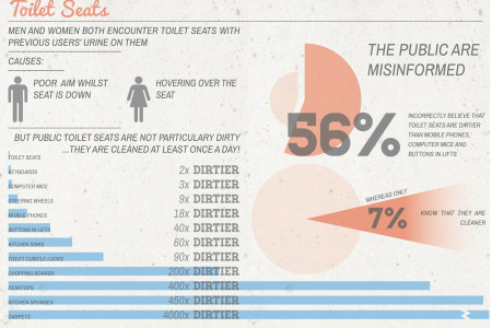 How dirty are toilet seats? Infographic
