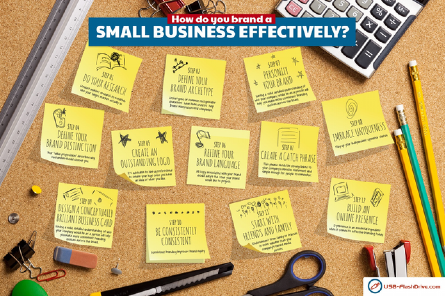 How To Brand a Small Business Effectively Infographic