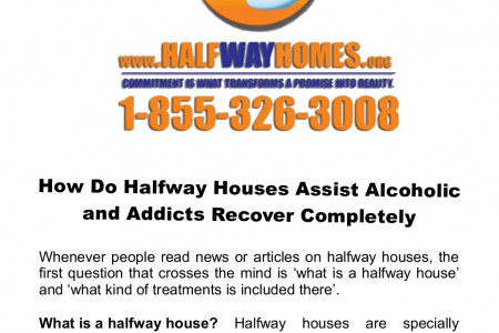 How Do Halfway Houses Assist Alcoholic and Addicts Recover Completely Infographic
