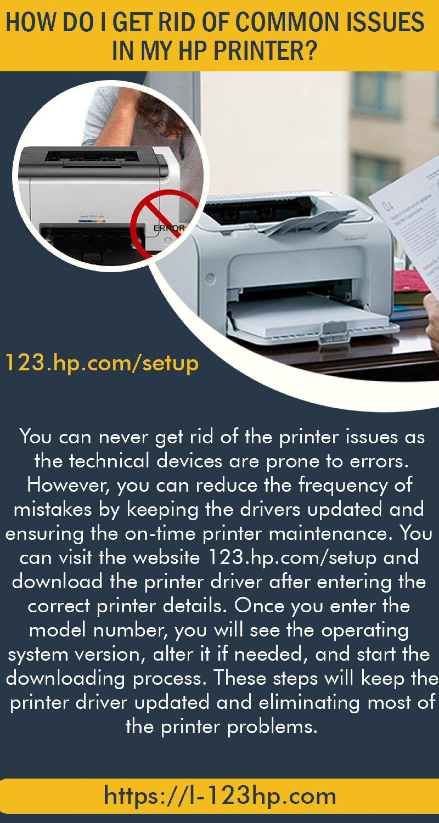 How do I get rid of common issues in my HP printer? Infographic