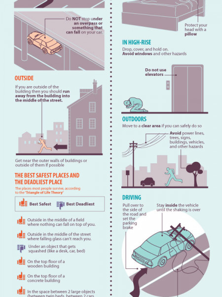 How Do You Survive An Earthquake: Tips Infographic