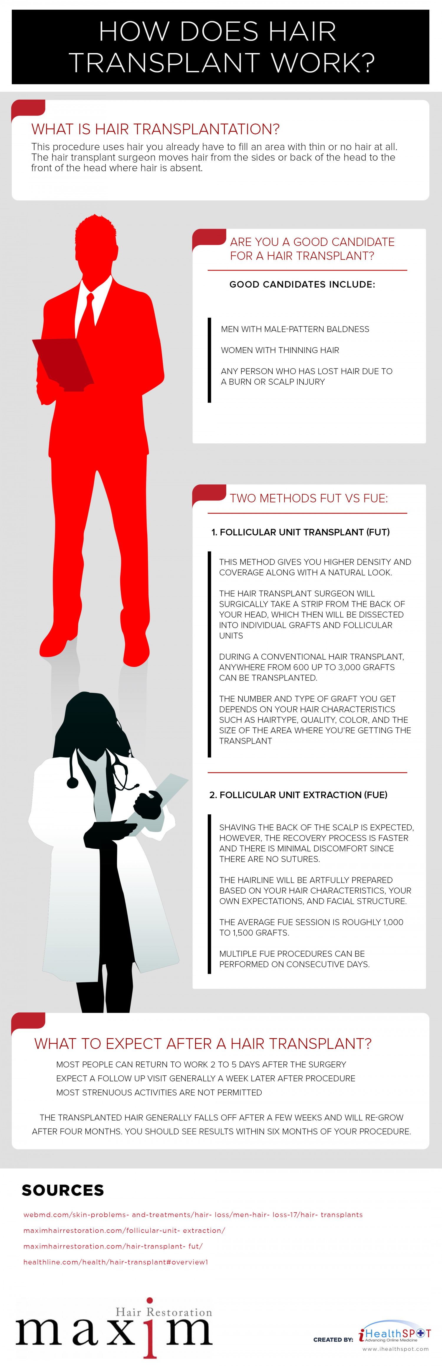 How Does Hair Transplant Work? Infographic
