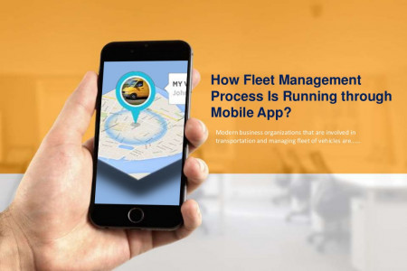 How Fleet Management Process Is Running Through Mobile App? Infographic