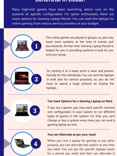 How Gaming Laptop Rental is Beneficial in Dubai? Infographic