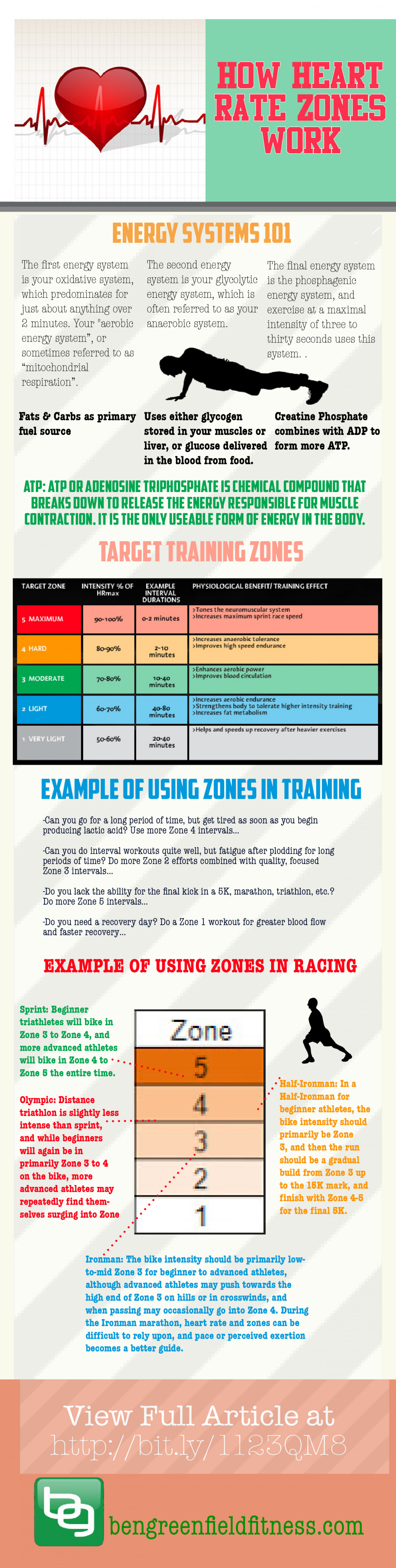How Heart Rate Zones Work Infographic