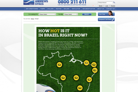 How Hot is it at the World Cup Right Now? Infographic