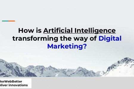 How is Artificial Intelligence transforming the way of digital marketing? Infographic